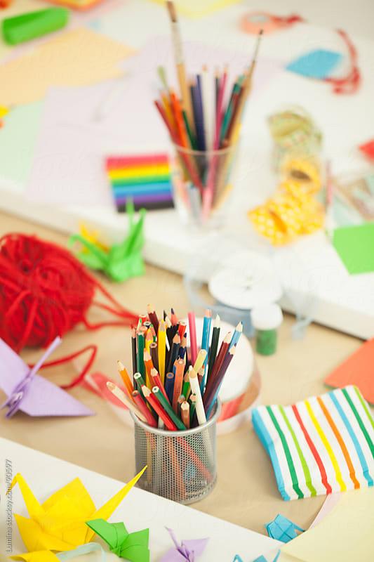 Colourful Kindergarten Desk by Lumina for Stocksy United