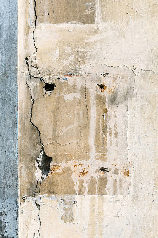 Grunge Cracked Wall  by VICTOR TORRES for Stocksy United