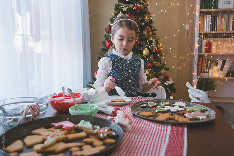 Making Christmas cookies by Dejan Ristovski for Stocksy United