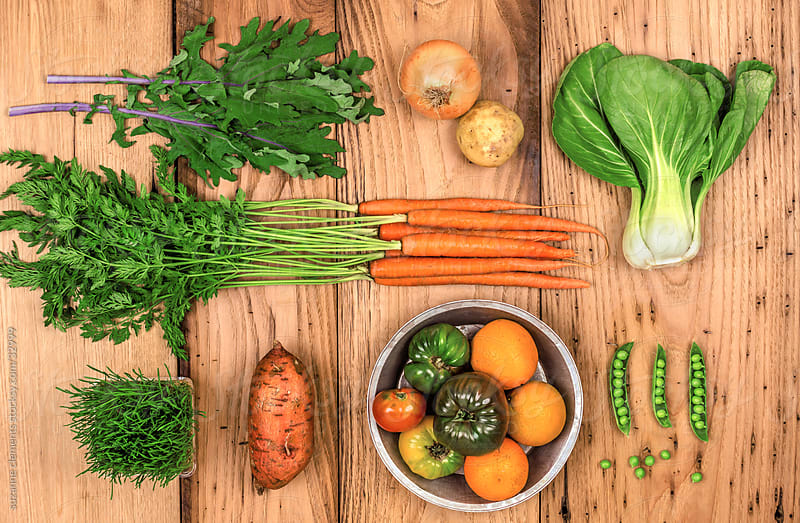 Organic Produce Freshly Harvested by suzanne clements for Stocksy United