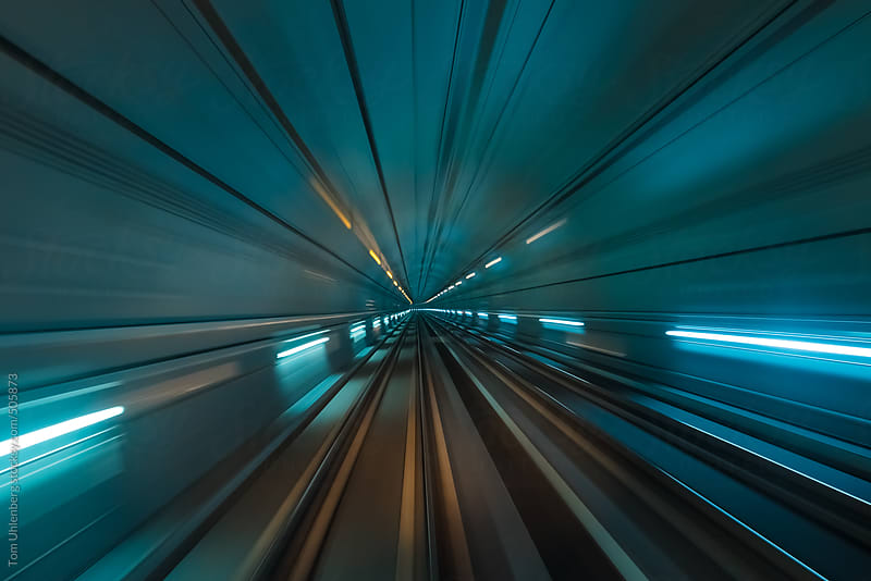 Speed and Motion - Futuristic Tunnel by Tom Uhlenberg for Stocksy United