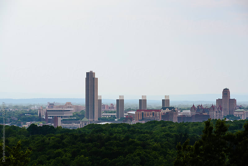 Skyline of Albany, New York by Deirdre Malfatto for Stocksy United