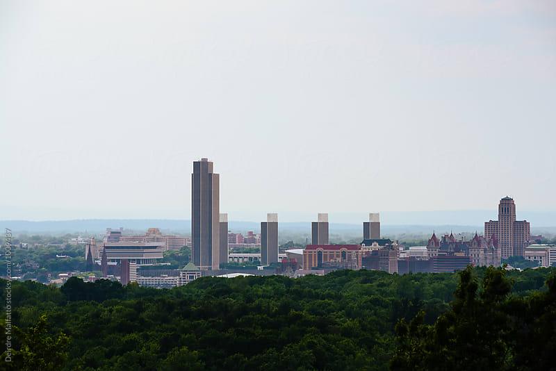 Skyline of Albany, New York by Deirdre Malfatto for Stocksy United