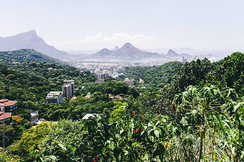 Rio de Janeiro cityscape view from favela by Alejandro Moreno de Carlos for Stocksy United