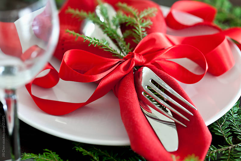 Holiday Placesetting by Jill Chen for Stocksy United