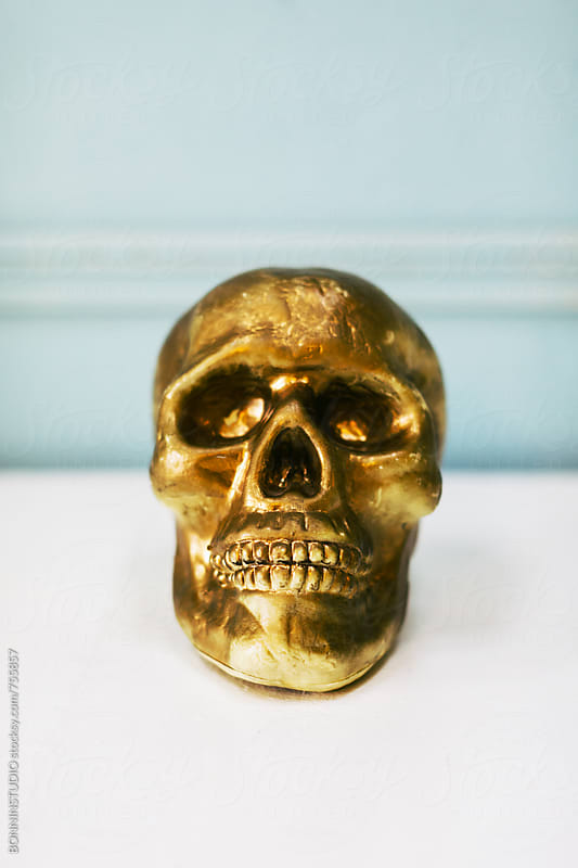 Gold skull. by BONNINSTUDIO for Stocksy United