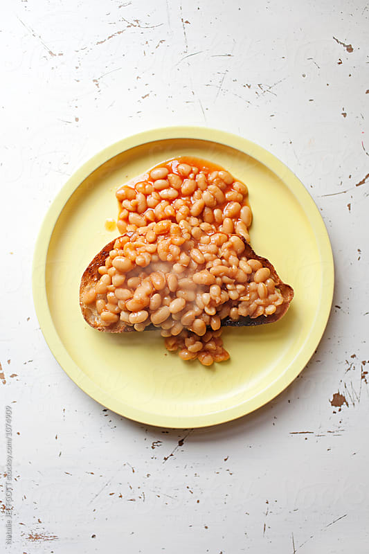 Baked Beans on toast by Natalie JEFFCOTT for Stocksy United
