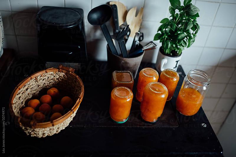 homemade apricot jam by Léa Jones for Stocksy United