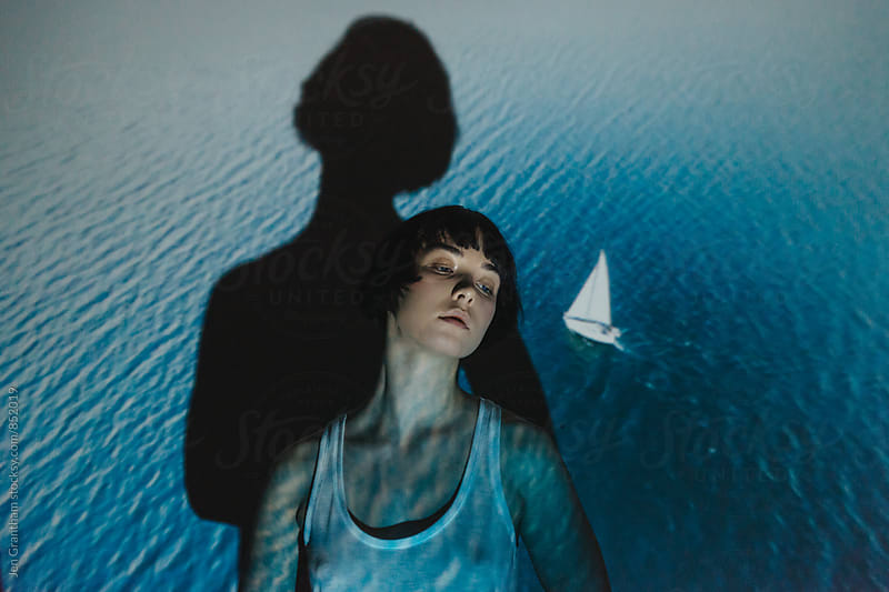 Projector Portrait - Sailboat by Jen Grantham for Stocksy United