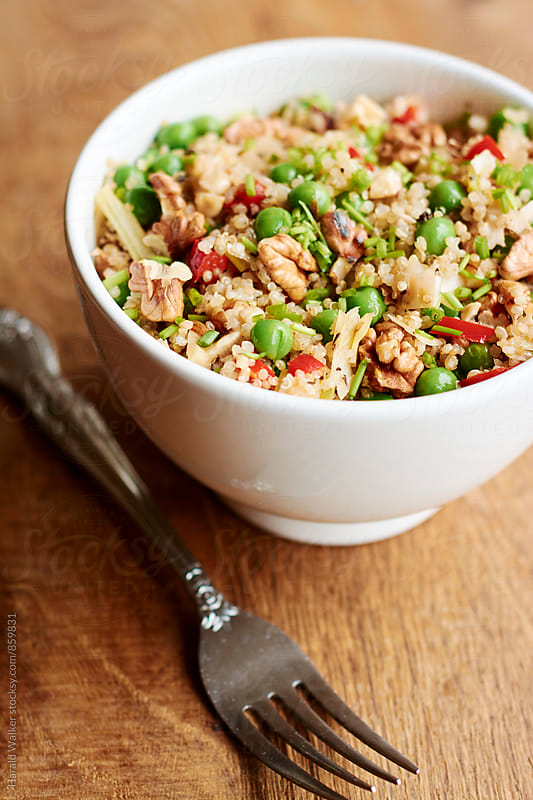 Quinoa, Green Pea, Walnut Salad by Harald Walker for Stocksy United
