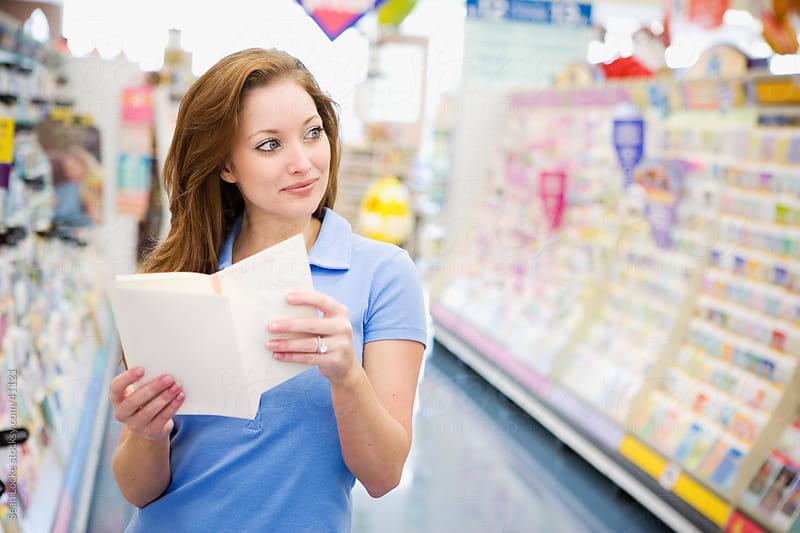 Supermarket: Choosing a Greeting Card by Sean Locke for Stocksy United