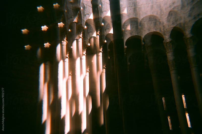 A film photo of Girona's turkish baths by Anna Malgina for Stocksy United