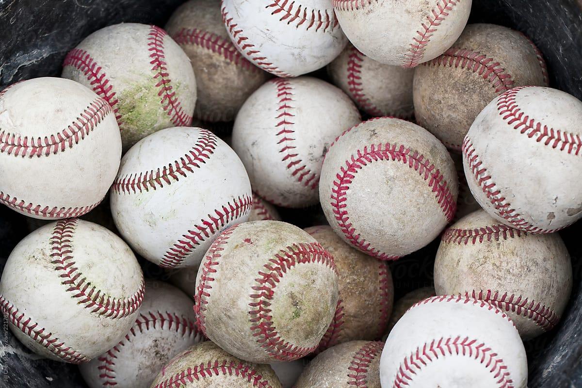 Bucket of Baseballs by Jill Chen - Stocksy United