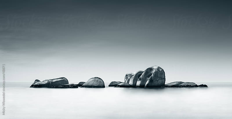 Long Exposure Rocks at Sea by Micky Wiswedel for Stocksy United