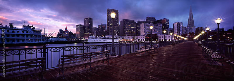 Pier 7 San Francisco at Sunrise by Jason Denning for Stocksy United