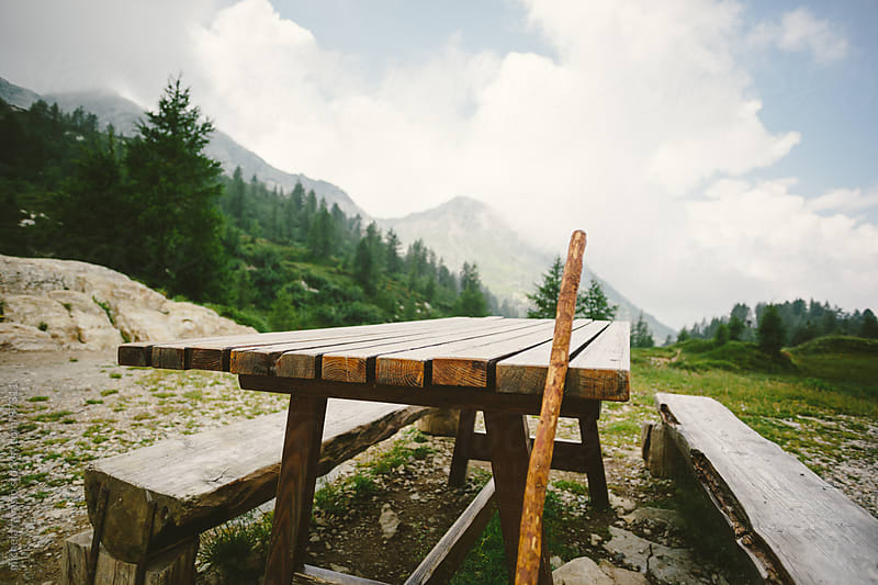 Resting spot in the mountains by michela ravasio for Stocksy United