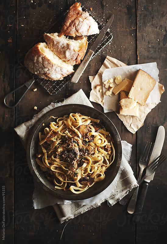 Mushroom Pasta by Melanie DeFazio for Stocksy United