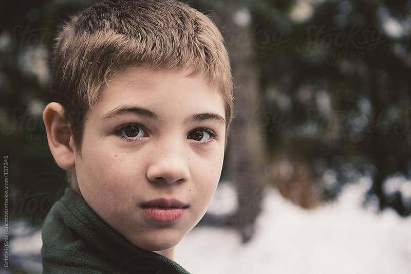 Boy Outside by Gabriel (Gabi) Bucataru for Stocksy United