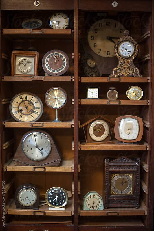 vintage clocks by Lee Avison for Stocksy United