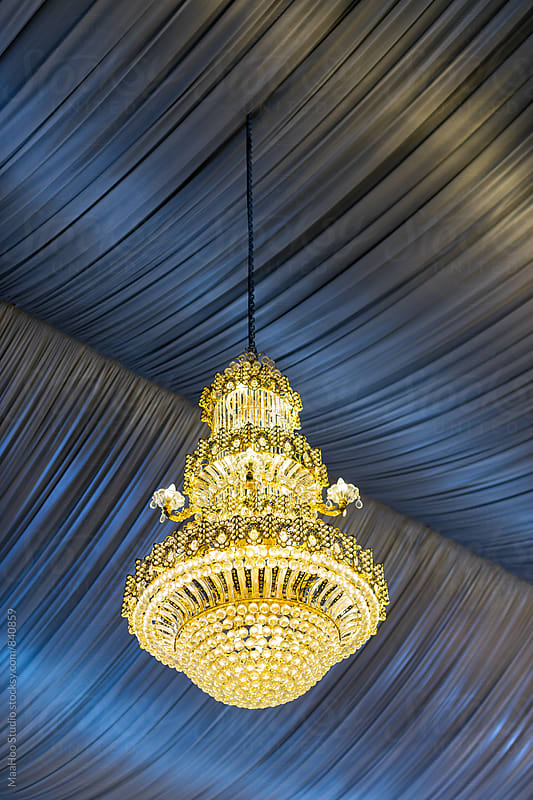 Low Angle View Of Illuminated Chandelier by Maa Hoo for Stocksy United