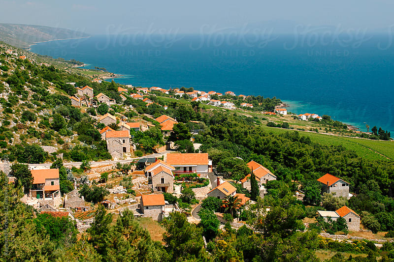 Milna Village on the Island of Hvar, Croatia by Raymond Forbes LLC for Stocksy United