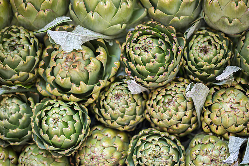 Artichokes in the Open Market by Helen Sotiriadis for Stocksy United