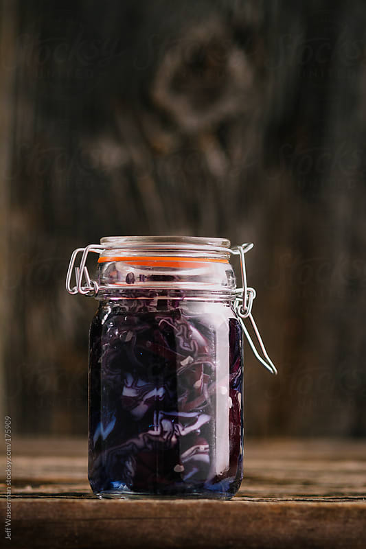Pickled Organic Red Cabbage in Jar by Studio Six for Stocksy United
