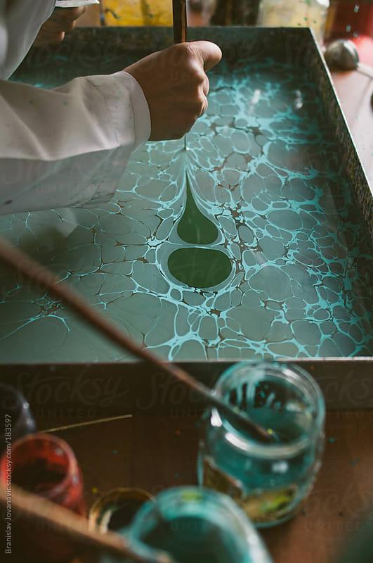 Ebru painting technique by Brkati Krokodil for Stocksy United
