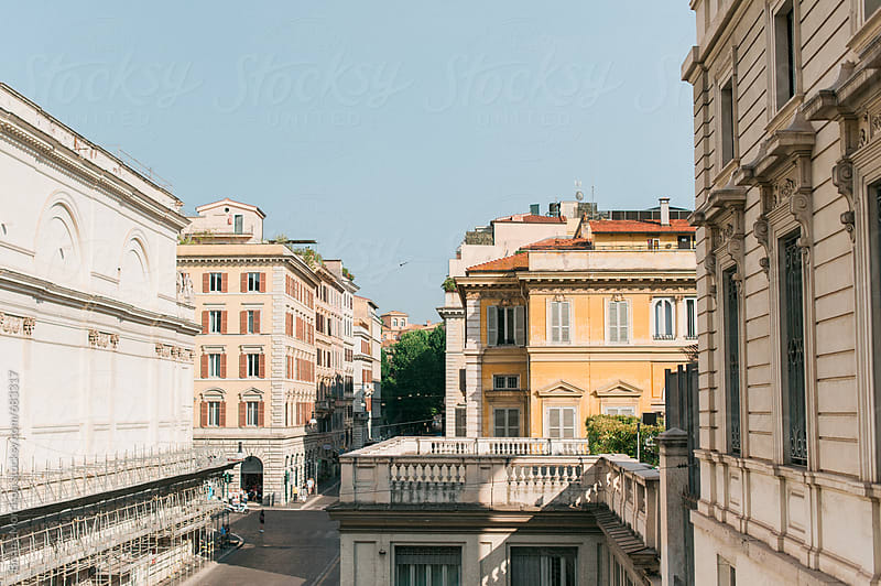 Buildings in Rome, Italy on a Sunny Summer Day by Briana Morrison for Stocksy United