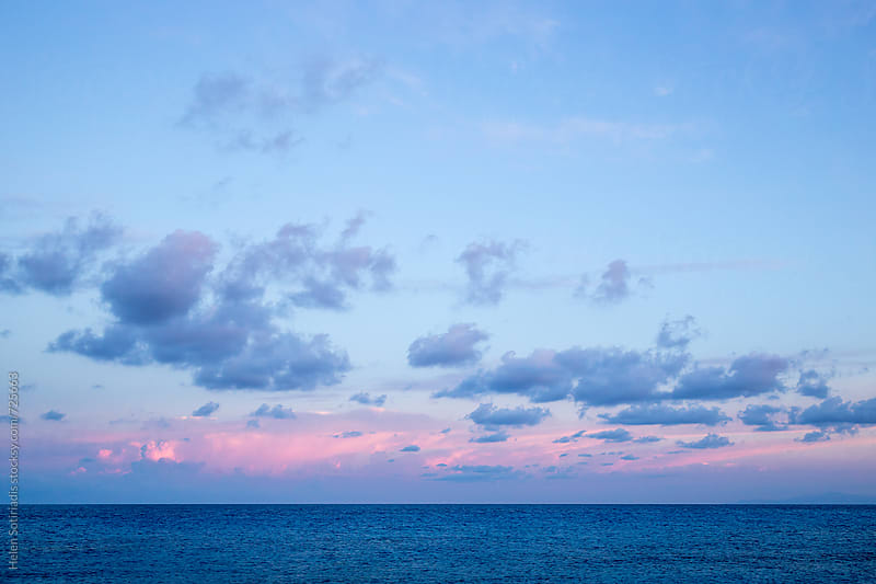 Early Morning Sky over the Sea by Helen Sotiriadis for Stocksy United