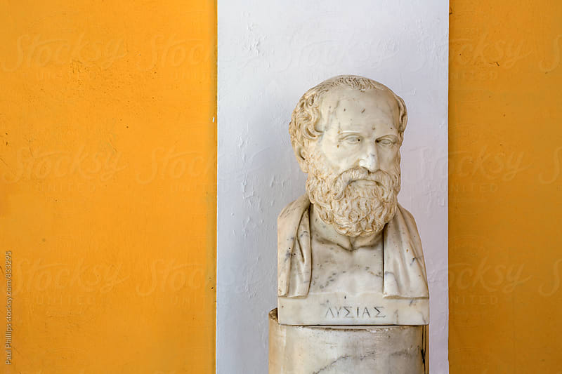 Bust of Lysias in the Achilleion Corfu Greece. by Paul Phillips for Stocksy United