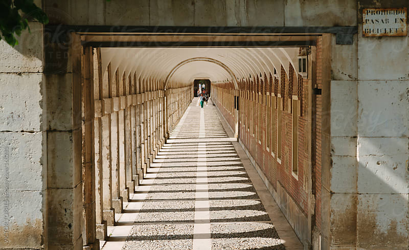 Long Corridor in Aranjuez Royal Palace, Madrid by VICTOR TORRES for Stocksy United
