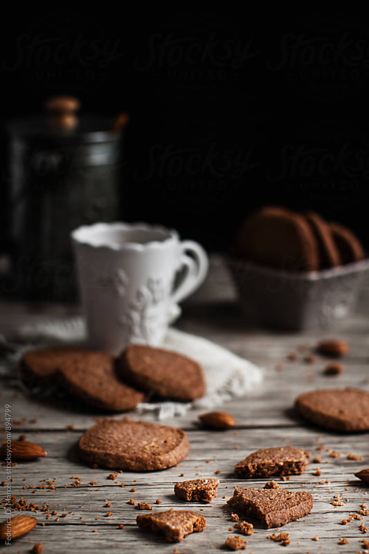 Almond coffee shortbread  by Federica Di Marcello for Stocksy United