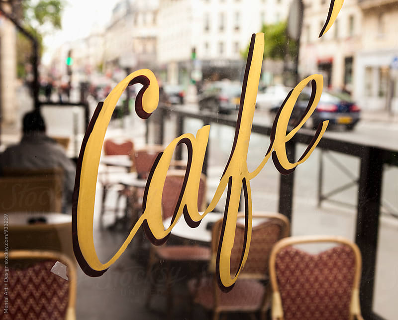 Cafe, Paris, France. by Mental Art + Design for Stocksy United