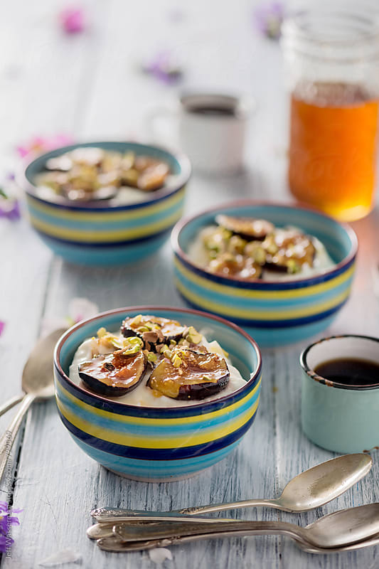 Yogurt with Roasted Figs by Studio Six for Stocksy United