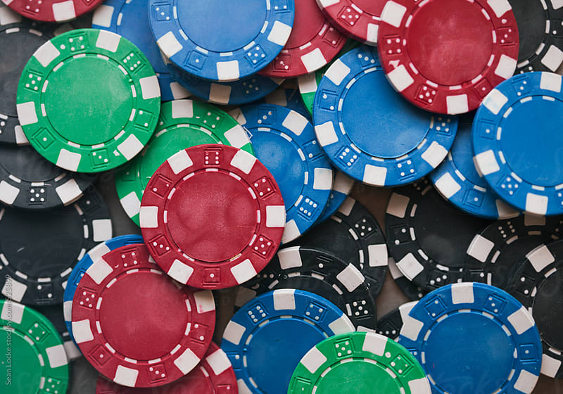 Cards: Pile Of Poker Chips Of Various Colors by Sean Locke for Stocksy United