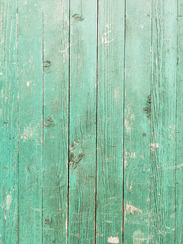 Old green wooden wall by Maja Topcagic for Stocksy United