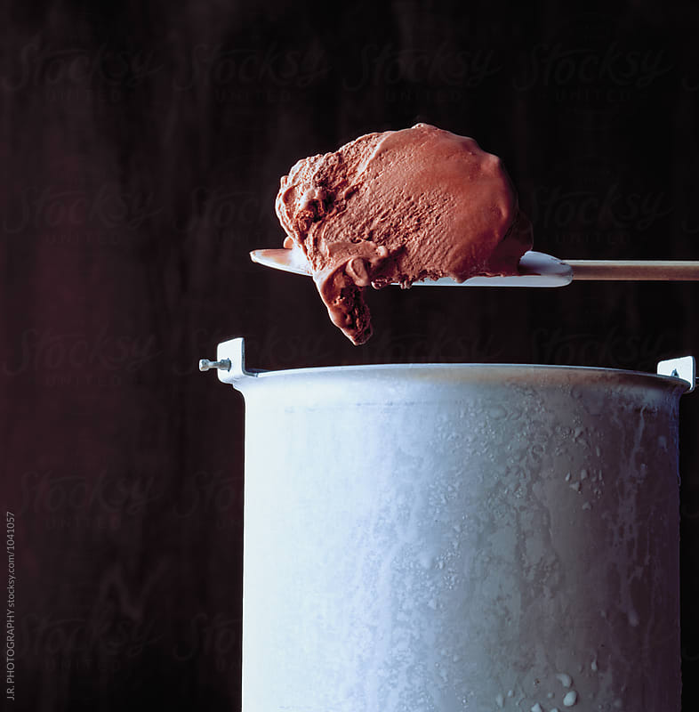 Making chocolate ice cream by J.R. PHOTOGRAPHY for Stocksy United