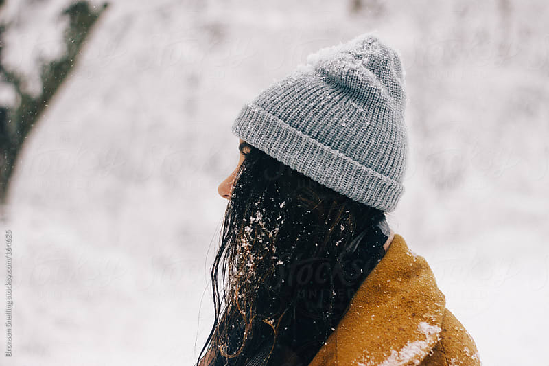 Falling Snow by Bronson Snelling for Stocksy United