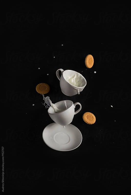 Milk and cookies time by Audrey Shtecinjo for Stocksy United