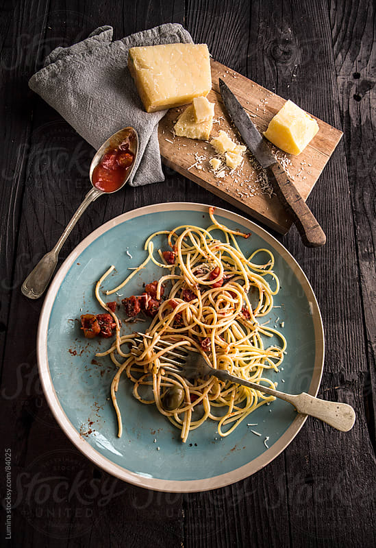 Spaghetti With Permesan Cheese by Lumina for Stocksy United