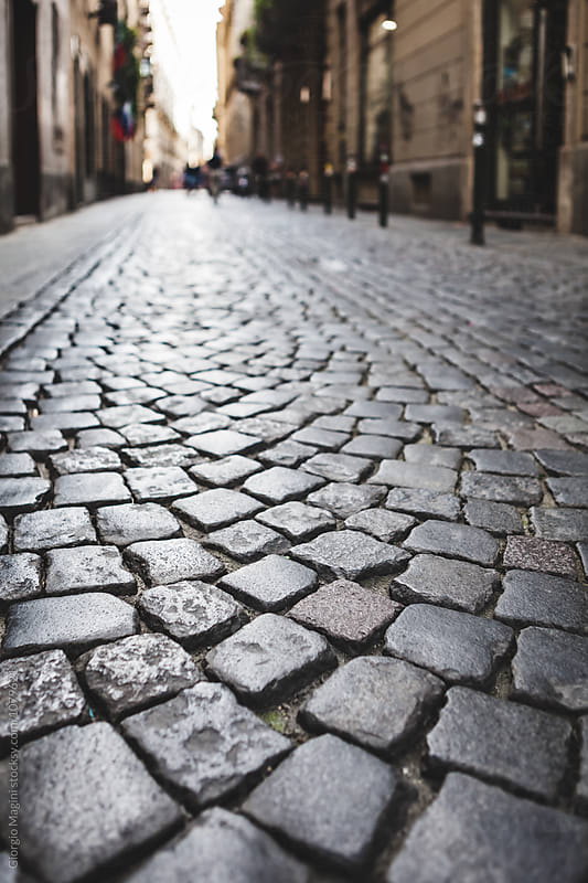 Cobblestone Paving in Italian Alley by Giorgio Magini for Stocksy United