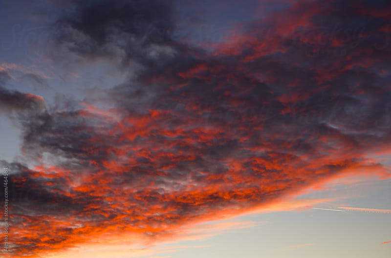 Bloody sunset clouds by Alessio Bogani for Stocksy United