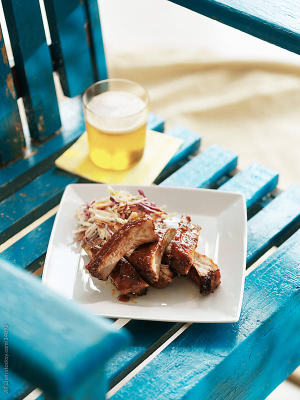 Summer Ribs and Beer by Jill Chen for Stocksy United