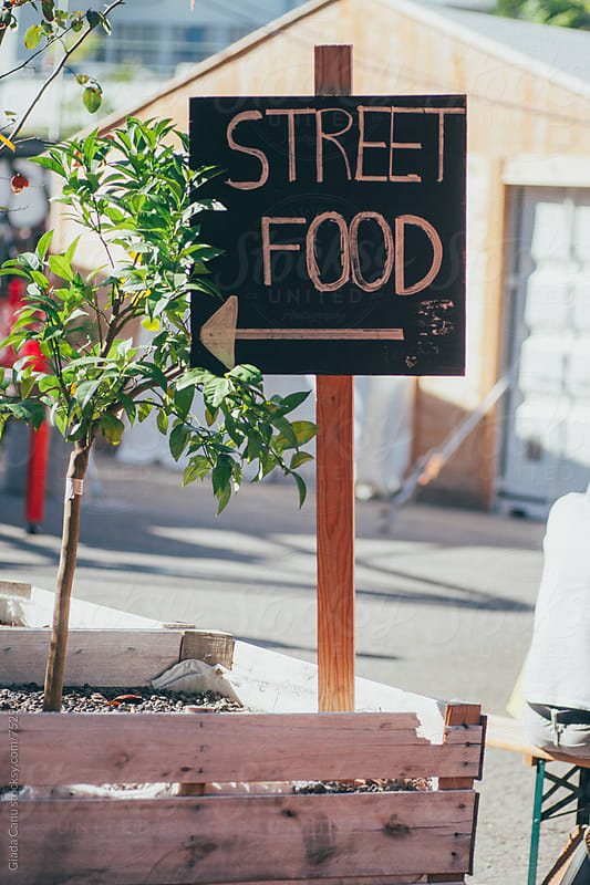 Street food sign by Giada Canu for Stocksy United