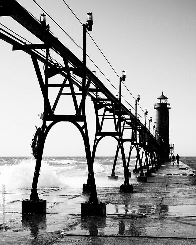 The Grand Haven Lighthouse by Brian Koprowski for Stocksy United