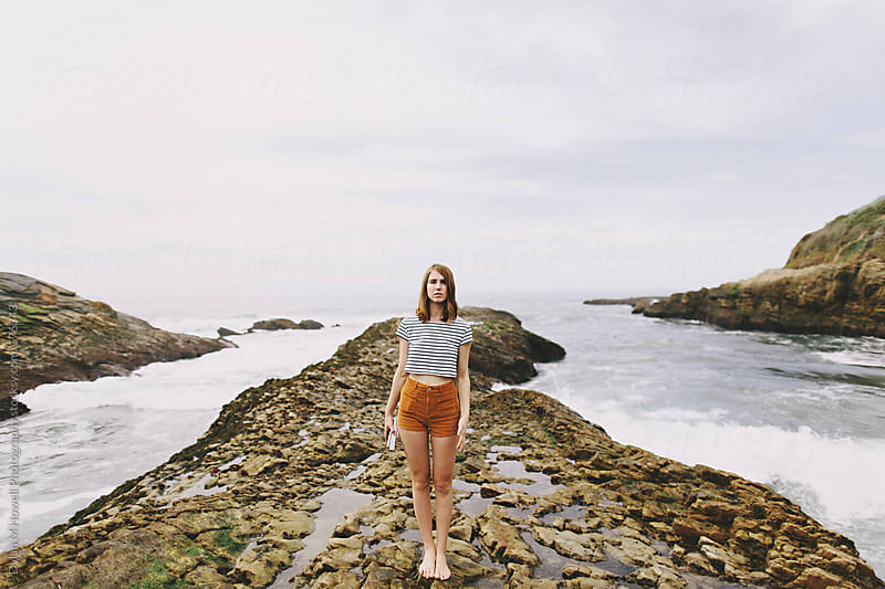 Costal sea rocks by Dylan M Howell Photography for Stocksy United
