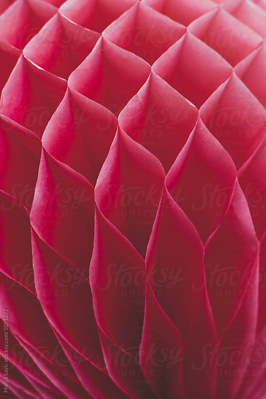 Pink Paper Lantern in Close up by Marija Savic for Stocksy United