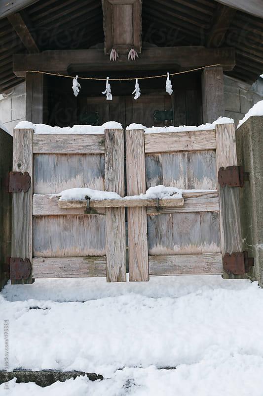 wooden gate by jira Saki for Stocksy United