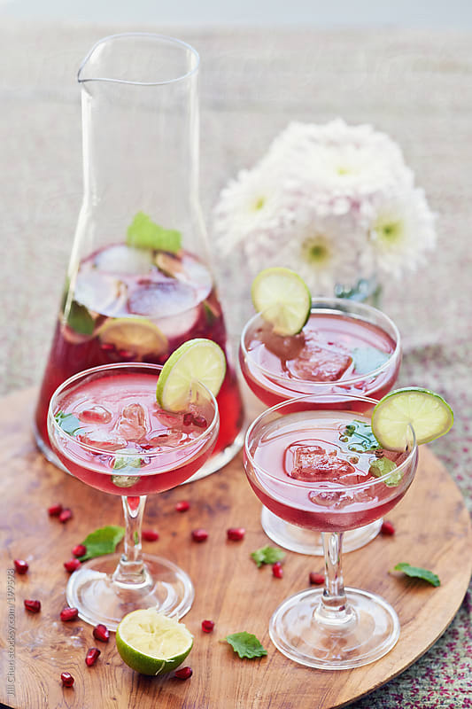 Delicious fruity cocktail for the perfect afternoon by Jill Chen for Stocksy United